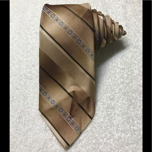 Sears The Men's Store Brown Bronze Vintage Tie